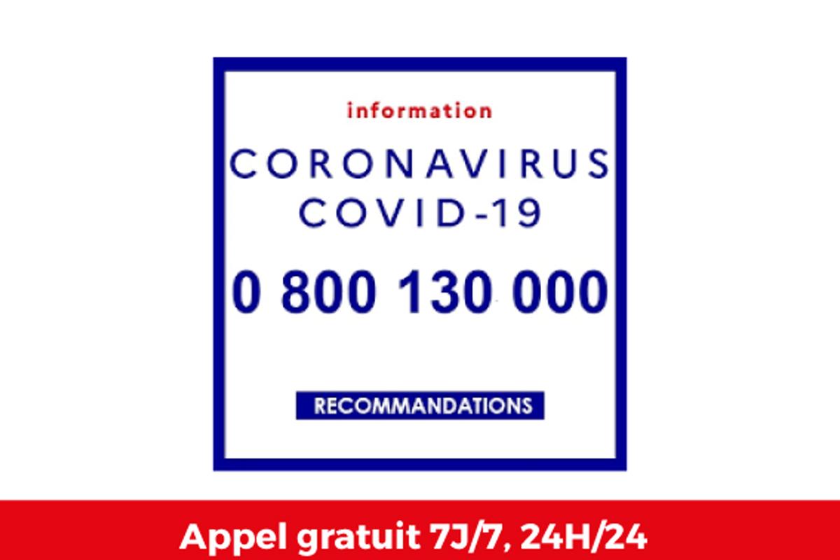 Numéro vert face à l'épidémie COVID-19